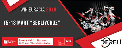 WIN EURASIA, 15 - 18 March 2018 / TÜYAP Fair and Congress Center